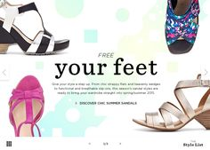 The Style List  Free your feet Sandal editorial