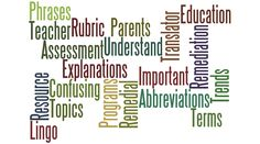 """Teacher Translator (R): Do you know what your child's teacher means when she's talking about """"remediation"""" or """"rubric""""? Learn here."""