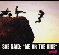 Every Biker know that! Motocross Funny, Motocross Quotes, Dirt Bike Quotes, Motorcross Bike, Motocross Racing, Biker Quotes, Auto Racing, Motocross Girls, Motorcycle Memes