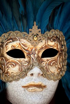 Venetian Masks for Mardi Gras; Venice Mask in Italy  Variety of Venetian masks from Venice Italy used for Mardi Gras and Carnival celebrations