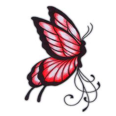 butterfly tatto | Red Butterfly Tattoo, Red Butterfly Tattoos, Red Butterfly Tatoo, Red ...