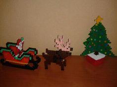 Adornos Navidad 3D hama beads by Manualidades Gemisa