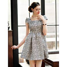 TS Vintage Jacquard Pieghe swing Dress – EUR € 31.75