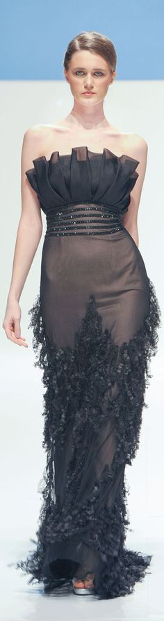 Saher Dia Spring Summer 2014 Couture    jaglady.  Black beauty. TG