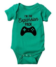 A jolly statement secures this bodysuit's playful appeal, while the lap neck and easy-open bottom snaps make dressing your cooing cutie a cinch. #allthebabythings #onesies #affiliate