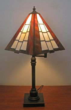 Geometric Stained Glass Lamp Shade
