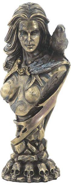 Celtic Goddess Morrigan Bust