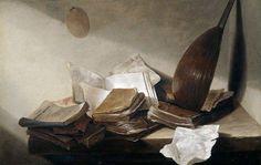 Jan Davidsz de Heem, Still Life With Books, 1625 - Baroque Dutch Still Life, Still Life Art, Vanitas, Utrecht, Anton Van, Ceiling Painting, Dutch Golden Age, Home Ceiling, The Hague