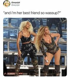 Video-Beyonce and Solange perform together at Coachella Bff Goals, Best Friend Goals, My Best Friend, Best Friends, Sisters Goals, Girlfriend Goals, Besties, King B, Squad