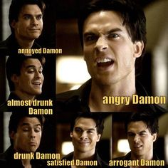 Basically Damon just being his sexy and adorable self as always.