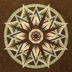 Mariners Compass ~Quiltworx.com, made by CI Carol Jaynes