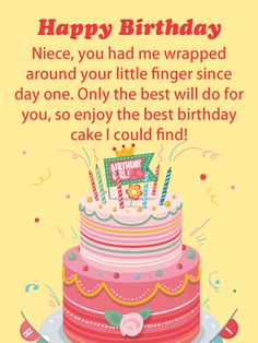 Send Free Enjoy the Cake - Happy Birthday Card for Niece to Loved Ones on Birthday & Greeting Cards by Davia. It's 100% free, and you also can use your own customized birthday calendar and birthday reminders.