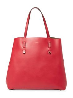 Vittoria L Leather Tote Bag by Furla at Gilt