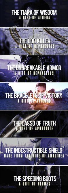 Wonder Woman + Weapons (Classic, New 52, Rebirth)