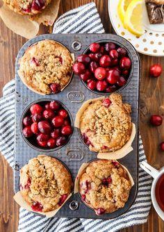 Cranberry streusel coffee cake muffins @dessertfortwo