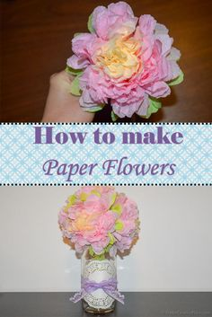 How to make paper flowers - Happy Creative Place