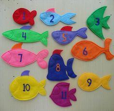 Ido de pesca magnético juego de fieltro. Patrón por LindyJDesign