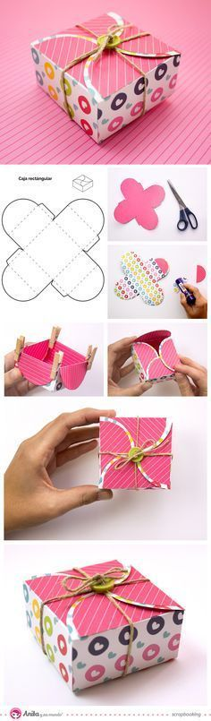 Ideas for diy paper box template origami Diy Gift Box, Diy Box, Diy Gifts, Gift Boxes, Diy And Crafts, Arts And Crafts, Paper Crafts, Origami Paper, Diy Origami