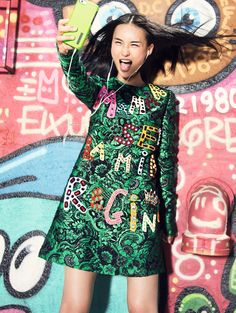 nice Chinese models take the streets of Miami for Vogue China November 2015 by Elaine Constantine [fashion]