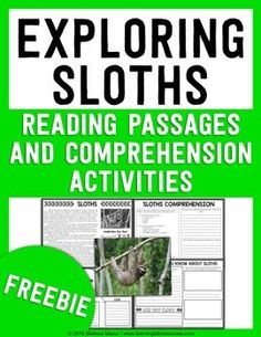 FREEBIE - This is a free sample of my animal passages.  Take a look below at the larger units and bundle!  Enjoy learning about sloths!