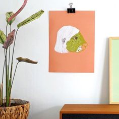 Decorate your home with some art! Art and interior, portrait, artprint, poster by Irene Linders