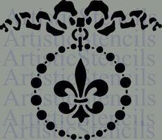 Bow Circle Stencil 10x8.7