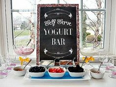 yogurt bar!! …