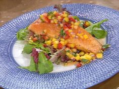 Grilled Salmon with a Pineapple, Mango and Strawberry Salsa Recipe : Emeril Lagasse : Food Network