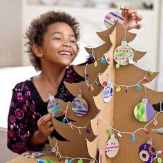 Shipping box tree http://familyfun.go.com/christmas/christmas-2011/shipping-box-tree-1030100/