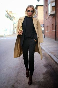 Parisienne: BLACK JEANS & CAMEL COAT