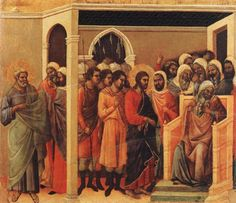 Christ Before Caiaphas From The Maestà Altarpiece (1308-1311)
