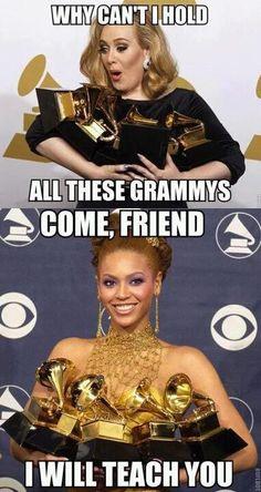 Adele & Beyonce. tehe
