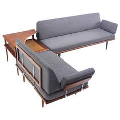 Exceptional Danish Modern Teak Seating Group Designed by Peter Hvidt