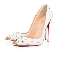 2015 christian louboutin White/Gold Degraspike
