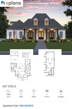 Check out this Southern style house plan that features modern farmhouse details. You can go crazy with farmhouse decor in this cool plan. Use code GETSOCIAL for 10% off your dream home. Call 1-800-528-8070 today. #architect #architecture #buildingdesign #homedesign #residence #homesweethome #dreamhome #newhome #newhouse #foreverhome #interiors #archdaily #modern #farmhouse #house #lifestyle #design