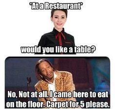 Carpet for five please.. Hahaaa