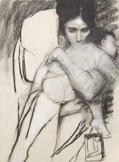 Life Drawing, Figure Drawing, Painting & Drawing, Baby Drawing, Art And Illustration, Wow Art, Pics Art, Mother And Child, Mother Art