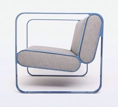 Designer Christian Dorn of German design studio STILTREU has created the Ova Easy Chair. The simple design of the chair is composed of two powder-coated st Sofa Design, Design Wood, Deco Design, Design Furniture, New Furniture, Business Furniture, Outdoor Furniture, Furniture Stores, Furniture Buyers