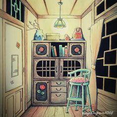 사진 설명이 없습니다. Dream Rooms, Drawings, Painting, Store, Coloring Pages, Painting Art, Larger, Sketches, Paintings