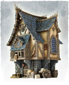 Tabletop World Merchant's House - painted