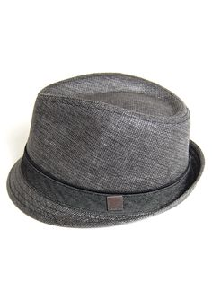 Woven trilby fedora - Charcoal Grey $23
