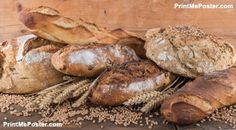 Composition of various breads poster #poster, #printmeposter, #mousepad, #tshirt