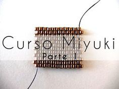 Curso Abalorios - Tecnicas con Miyuki ( Peyote Par ) - parte - Like this way of starting Peyote Seed Bead Tutorials, Beading Tutorials, Peyote Patterns, Beading Patterns, Diy Jewelry Videos, Seed Bead Flowers, Seed Beads, Peyote Beading, Diy Jewelry