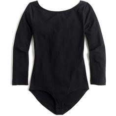 J.Crew Long-Sleeve Bodysuit ($60) ❤ liked on Polyvore featuring intimates and shapewear