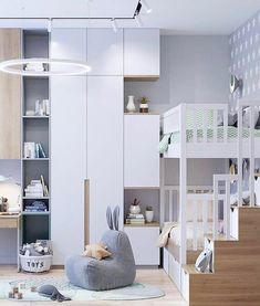 Room inspo at its finest! This incredible space has us completely 🤤 . Tag a mama friend who will be totally 🤤 with us. 📷… Room inspo at its finest! This incredible space has us completely 🤤 . Tag a mama friend who will be totally 🤤 with us. Kids Bedroom Designs, Kids Room Design, Room Interior, Interior Design Living Room, Baby Bedroom, Bedroom Decor, Teenage Room, Boy Room, Child Room