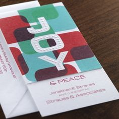 Joy Corporate Holiday Card by Checkerboard Ltd.