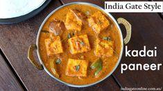 Once: kadhai paneer Paneer Dry Recipe, Shahi Paneer Recipe, Butter Masala Recipe, Paneer Recipes, Curry Recipes, Chaat Recipe, Indian Veg Recipes, Veggie Recipes, Vegetarian Recipes
