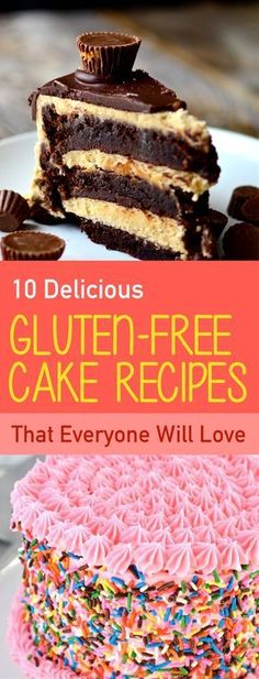 If you are gluten intolerant and you always crave for a tasty cake then this list is for you. Many believe that eliminating gluten from your cake means sacrificing flavor. Fear not, we've rounded up the 10 best delicious gluten-free cake recipes Gluten Free Diet Plan, Gluten Free Drinks, Gluten Free Sweets, Gluten Free Cakes, Gluten Free Baking, Homade Cake Recipe, Cake Recipes, Dessert Recipes, Vegan Wedding Cake