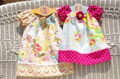 little girl dresses! sewing-serging