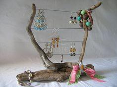 Porta orecchini espositore porta gioielli bijouxlegno di di H2ONDE